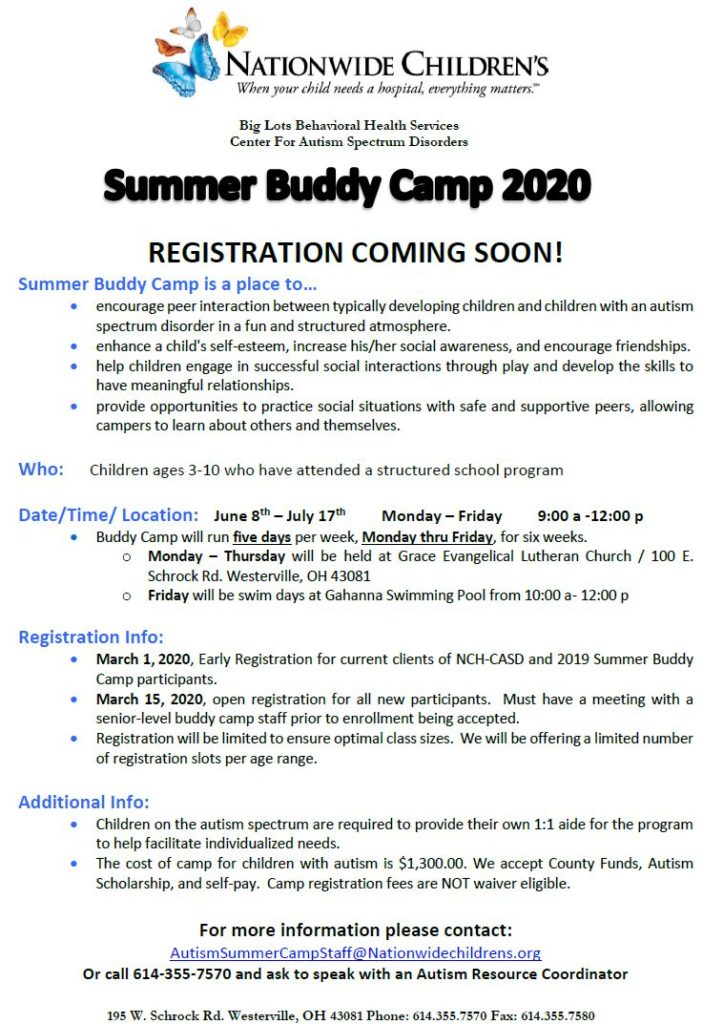 summer buddy camp 2020